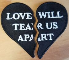 Love Will Tear Us Apart 2 Patch Set- Joy Division - FREE SHIPPING!