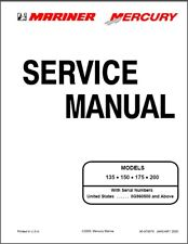 Mercury Mariner 135 • 150 • 175 • 200 2-Stroke Outboard Motor Service Manual CD