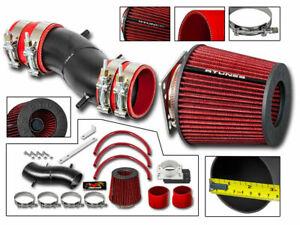 Short Ram Air Intake Kit MATT BLACK + RED Filter for 93-97 Altima All Models