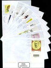 lotto di dieci buste viaggiate con francobolli codice a barre (1)