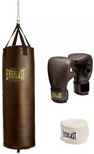 Vintage Heavy Boxing Bag Kit, Sleek Durable Home Indoor Gym Training Exercise