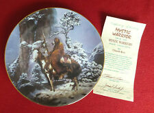 HAMILTON Mystic Warriors Native American Collector Plate - Mystic Warrior