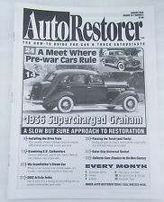 Auto Restorer Classic Car Jan 03 How-To Guide Magazine 1936 Supercharged Graham