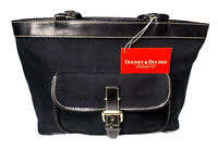 Dooney & Bourke East/West Shoulder Bag Signature Jacquard Canvas Black