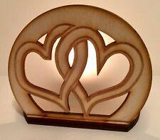 Entwined Heart Wooden Tealight Holder