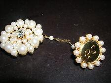NEW AVON Beautiful Brooch Pin PC PRESIDENT'S CLUB RHINESTONE Pearls