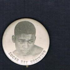 RARE 1950's World Champion Sugar Ray Robinson boxing pinback button boxer