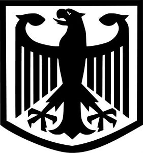 German Eagle Crest Vinyl Sticker Decal Deutschland Flag - Choose Size & Color