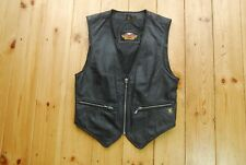 Womens Genuine Official Harley Davidson Black Leather Biker Best Motorcycle S