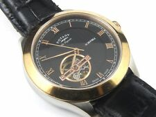 Rotary Jura Mens Automatic Swiss Watch-Black Strap GS90509/10