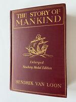 1926 The Story of Mankind Hendrik Van Loon Newbery Medal Edition HC