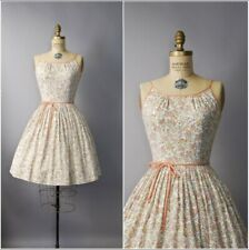 New listing Vintage 1960's Peachy Cotton Dress