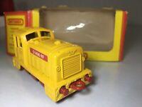 Matchbox Lesney in OVP RAILWAY TRAIN ZUG Nr.24 Alte Spielzeug Lok Shunter / GELB