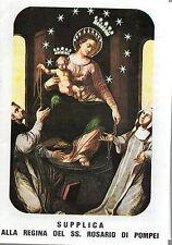 888 Madonna Regina del SS. Rosario di Pompei   Santino Holycard