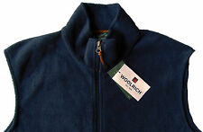 Men's WOOLRICH Navy Blue Fleece Vest Large L NWT NEW Nice!!