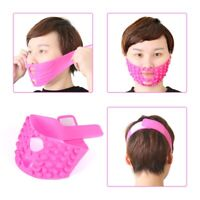 Pink V-line Face Chin Lift Up Mask Cheek Slimming Slim Beauty Belt Band Silicone