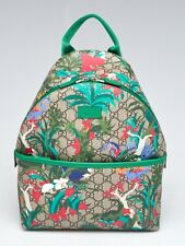 Gucci Beige/Ebony GG Canvas Supreme Jungle Print Children's Backpack Bag