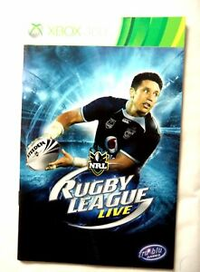 55121 Instruction Booklet - NRL Rugby League Live - Microsoft Xbox 360 (2010)