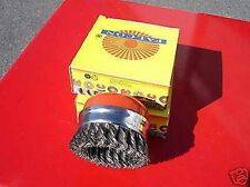 Quality 2Pce-75mm (M14x2) Twist Knotted Cup Brush