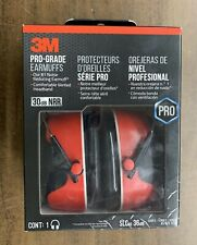 New listing 3M Pro-Grade Earmuffs (Red) Brand New In The Retail Box (Free Shipping)