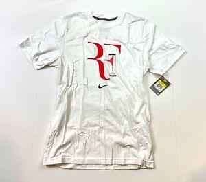 Mens Nike Roger Federer RF Tennis Fifteen Grand Slam Celebration T Shirt White S