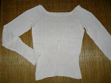 Damen-Pullover mit U-Ausschnitt aus Baumwolle ohne Muster