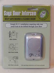 Sage Security Door Bell Chime 2 Way Intercom System