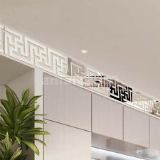 50pcs Modern Acrylic Mirror Tile Stickers Wall Decal Decoration Art DIY Stick On