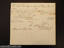 1866 Orgon Slain Co. invoice