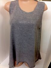Pierre Balmain Top Grey With Silver Studs Shirtsleeves Size 44