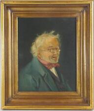 Art Max Gaisser Portrait of Gentleman Oil Panting on Panel Antique