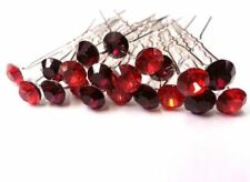 Accessoires rouge en cristal pour la mariée