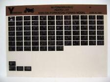 Yamaha FZR600 1996 FRZ600RH FZR600RHC Parts List Manual Microfiche o3