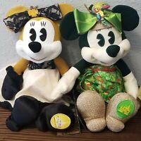 Disney Park Minnie Mouse Plush Set Main Attraction #2/Pirates& #5/Enchanted Tiki