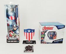 Avengers Titan Hero Series - Captain America Figure, Shield and Mug Bundle