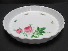 Christineholm Rose Pattern Pie Tart Quiche Pan Bakeware Baking Ceramic T