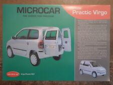 MICROCAR VIRGO PRACTIC GSE & GLX orig c2003 UK Mkt Sales Leaflet Brochure