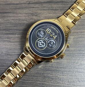 NEW! Michael Kors Gen 4 Runway Gold Smartwatch MKT5045 $350 Retail