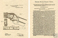 WINCHESTER 1887 LEVER ACTION SHOTGUN PATENT Art Print READY TO FRAME!!! Browning