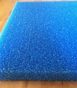 Filterschaum Filtermatte blau 100 x 50 cm, PPI & Stärke wählbar Koi Teich