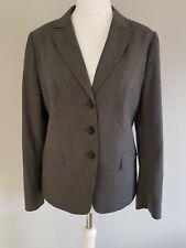 Débardeur ESCADA Veste Blazer Ajustée 99% laine vierge 1% élasthanne en Gris taille 44/18.