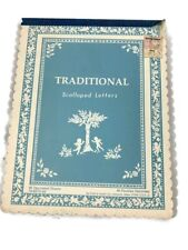 Traditional Scalloped Letters By Pratt & Austin Co Pad Of Paper 40 Decorated