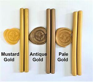 GOLD Sealing Wax Sticks. Postable Seal Stamps, fit Hobbyist std size Melting GUN