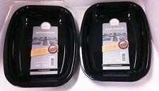Set of 2 vitreous enamel roasters 26cm