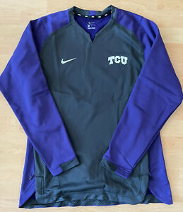 Nike College TCU Player Exclusive Sweatshirt Purple Size Large New