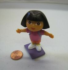 "DORA THE EXPLORER Dollhouse 2.5"" GIRL DOLL Pink Shirt Cake Topper Figure 2006"