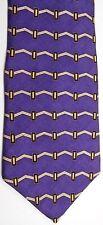 "Bill Blass Neo Men's Silk Tie 58"" X 4"" Purple w/ multi-color Horizontal Striped"