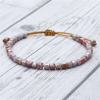 Handmade Boho Classic Crystal Beads Adjustable Bracelet Bangle Women Jewelry