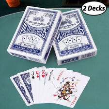 2 Decks Playing Cards Poker US Standard Size Blackjack Euchre Magic Games Blue