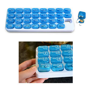 31 Day  Pillthing Monthly Pill Organizer Tray with Daily Pop-Out Pods ITEM # 995
